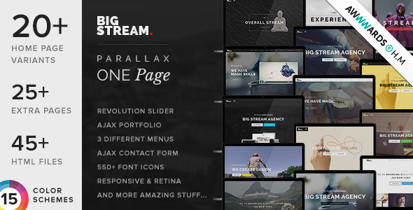 BigStream - wielostronny szablon jednej strony