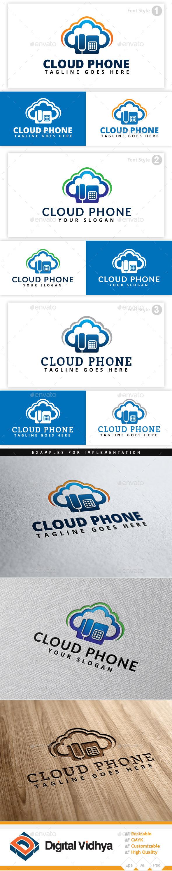 Cloud & Phone Logo