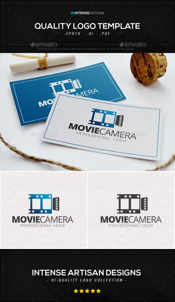 Movie Camera Logo Template