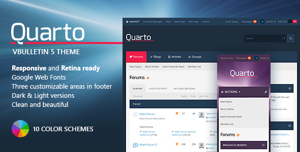 Quarto — vBulletin 5 Responsive Retina Ready Theme