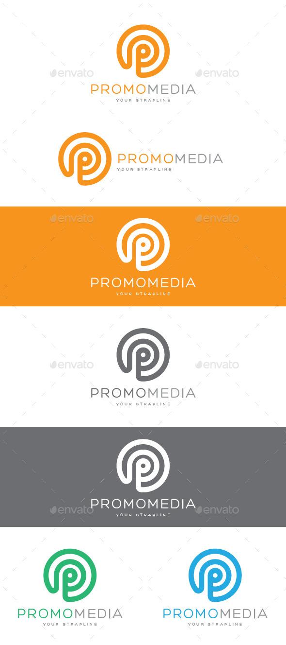 Promo Media Letter P Logo