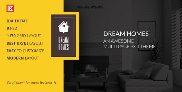 Dream Home-An Awesome IDX Psd Theme
