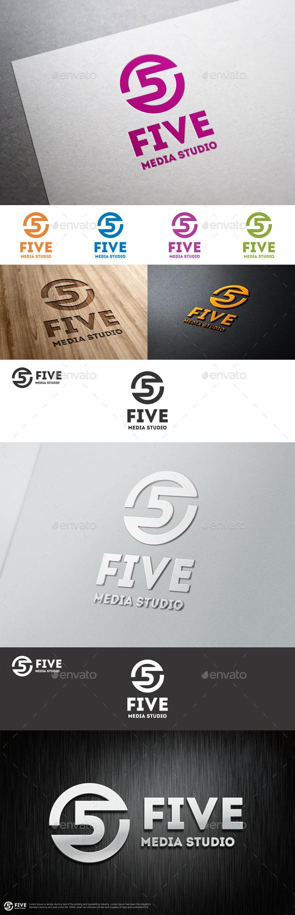 Five Media Studio Logo Template