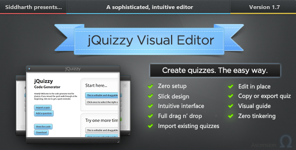 jQuizzy Classic - Interactive Visual Editor