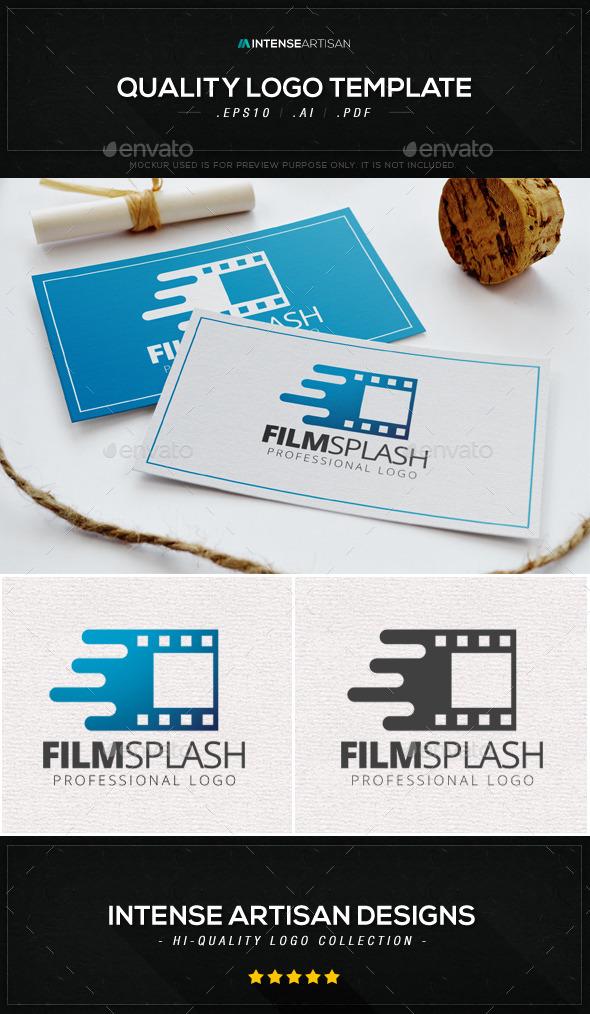 Film Splash Logo Template