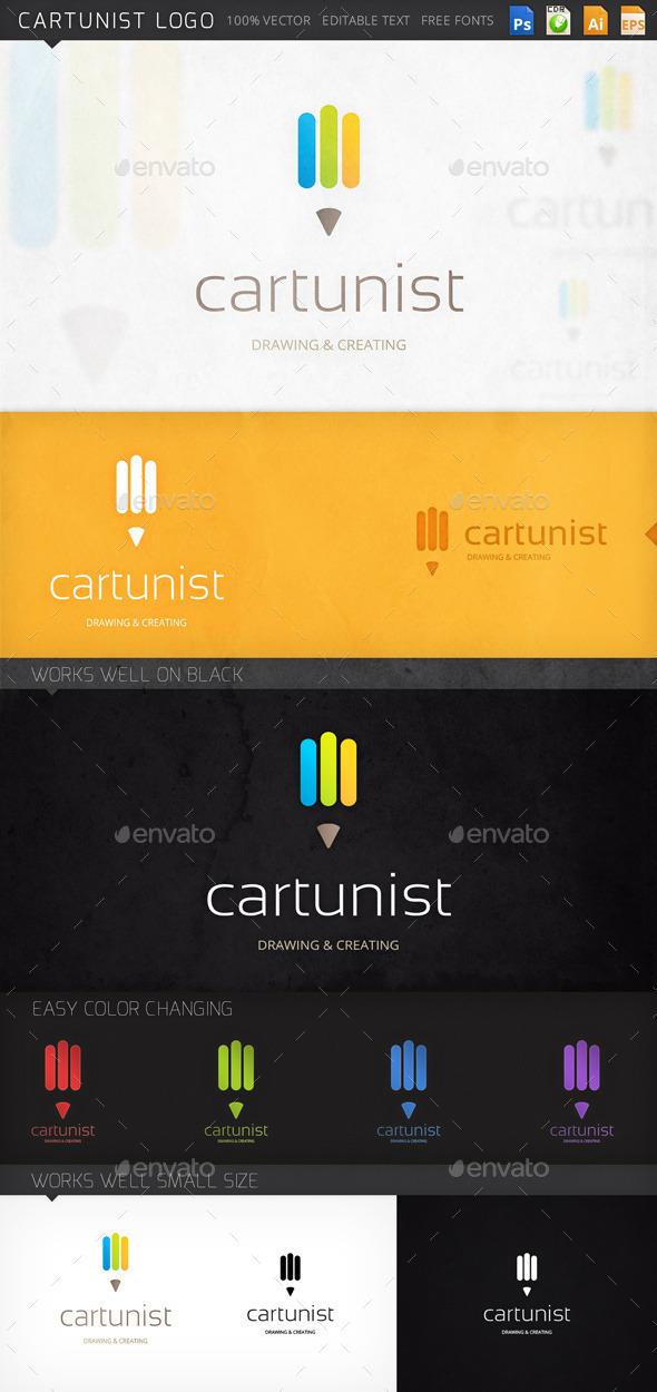 Cartunist Pencil Logo Template