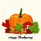 Colorful Autumn Leaf with Pumpkin Background - GraphicRiver Item for Sale