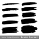 Set of Hand Drawn Grunge Brush Smears - GraphicRiver Item for Sale