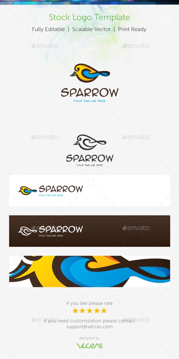 Sparrow Stock Logo Template