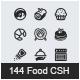 144 Food and Kitchen Custom Shape / Set 4 - GraphicRiver Item for Sale