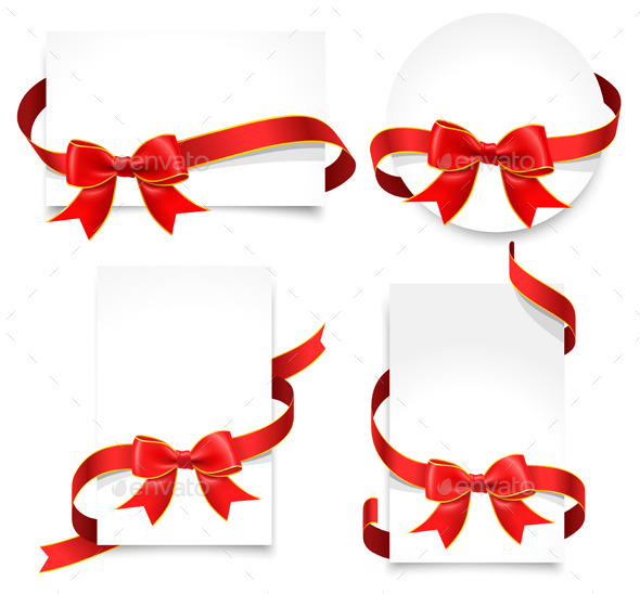Gift Cards with Red Bows
