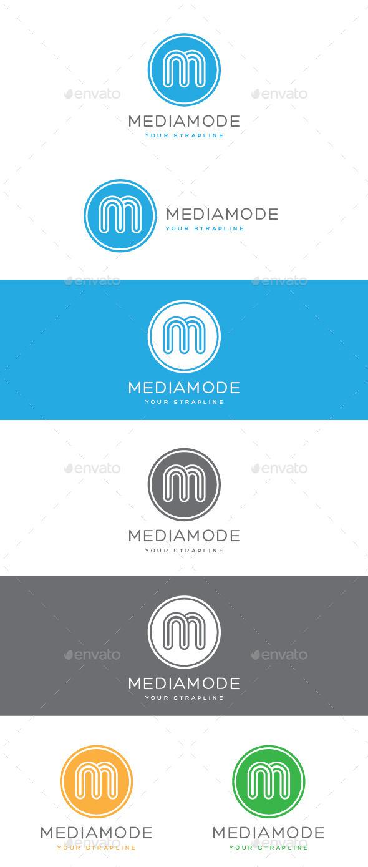 Media Mode Letter M Logo