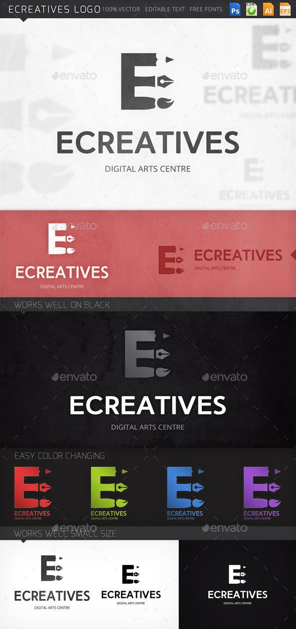 Ecreatives Letter E Logo Template