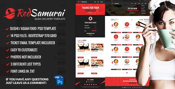 Red Samurai PSD Template