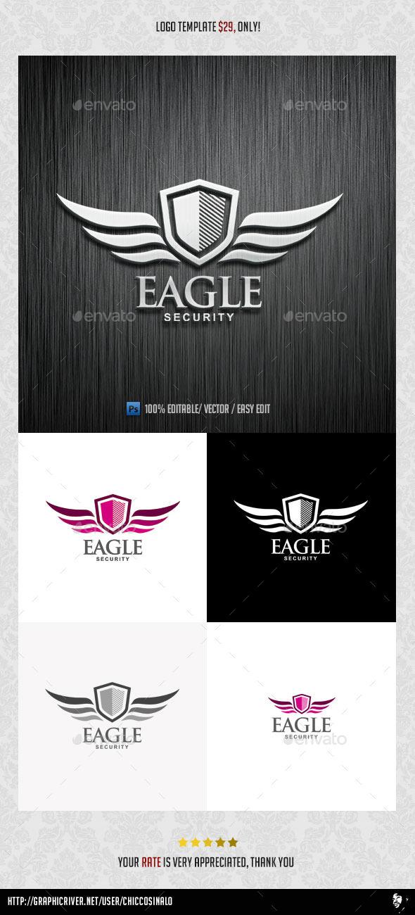 Eagle Security Logo Template