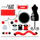 Sewing Set Design Elements Isolated on White - GraphicRiver Item for Sale