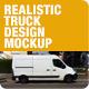 Realistic Truck Design Mockups - GraphicRiver Item for Sale