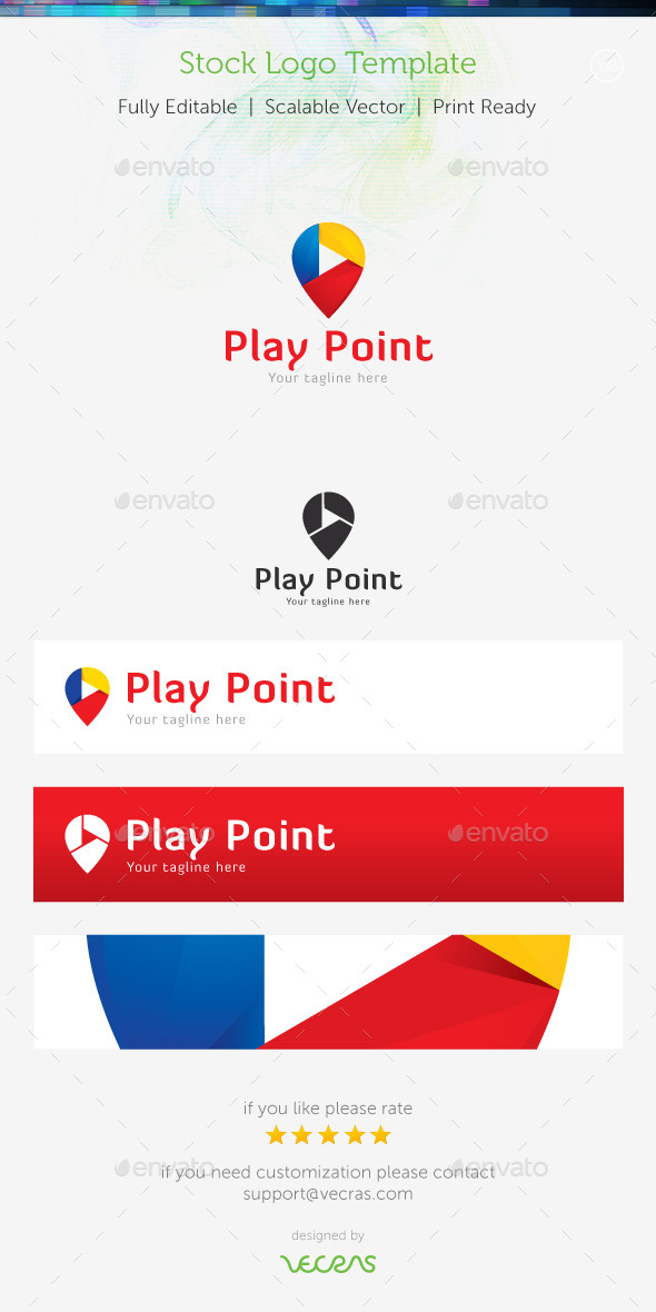 Play Point Stock Logo Template
