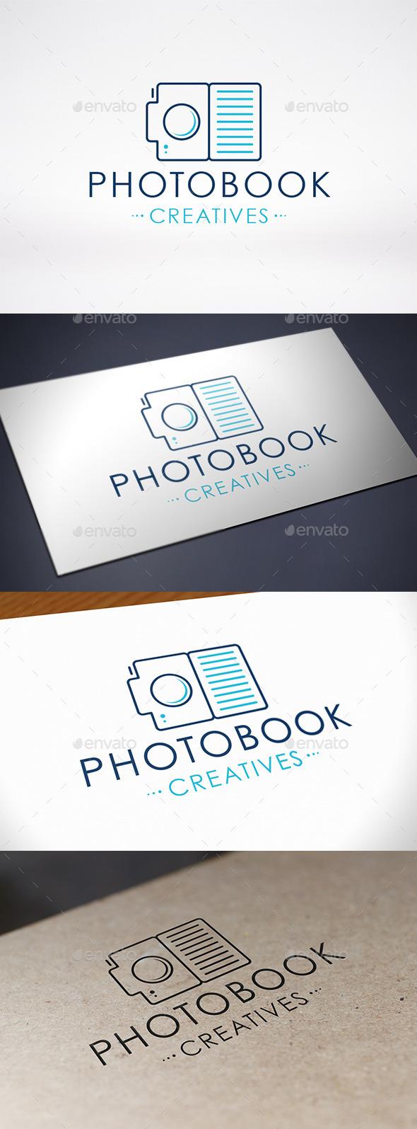 Photo Book Logo Template