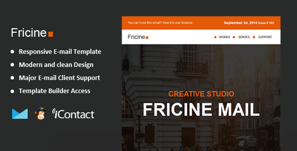 Fricine - Responsive Email + Themebuilder Access
