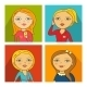 Vector Illustration of Women Faces - GraphicRiver Item for Sale