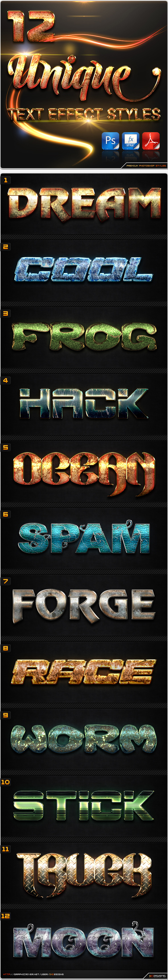 12 Text Effect Styles