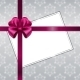 Vector Christmas Card with Ribbon - GraphicRiver Item for Sale