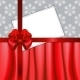 Christmas Card with Red Ribbon and Textile - GraphicRiver Item for Sale