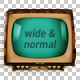 Old TV - Wide & Normal - GraphicRiver Item for Sale