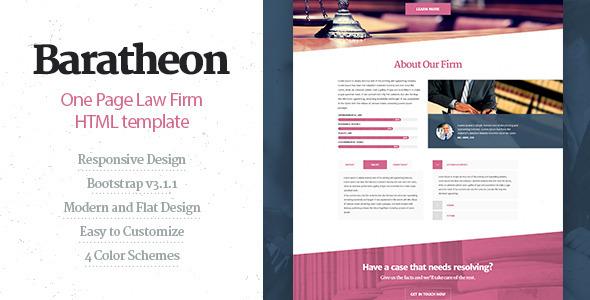 Baratheon - szablon HTML jednej kancelarii prawnej