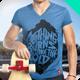 T-Shirt Vneck Man Mock-up  - GraphicRiver Item for Sale