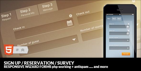 Mastenia Sign up/Reservation/Survey Form Wizard
