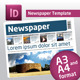 Newspaper Template A4 and A3 Format 10 Pages - GraphicRiver Item for Sale