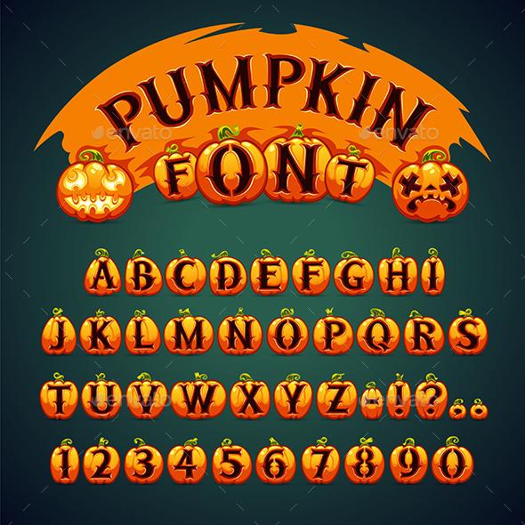 Halloween Pumpkin Font