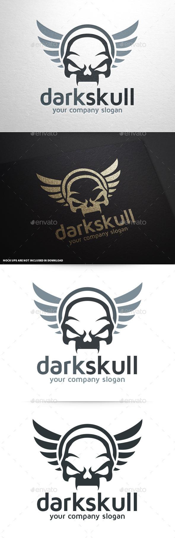 Dark Skull Logo Template
