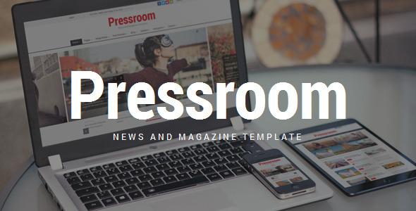 Pressroom - responsywny szablon wiadomości i czasopism