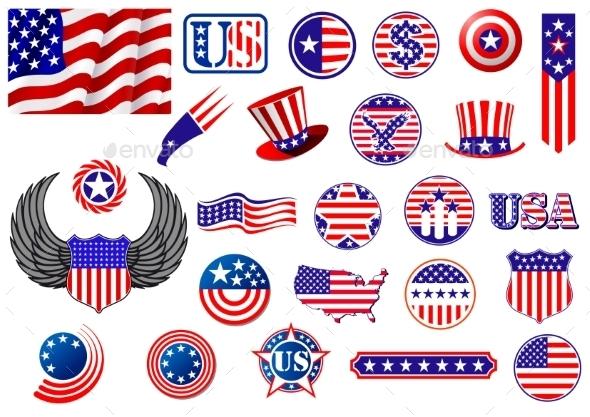 American Patriotic Badges