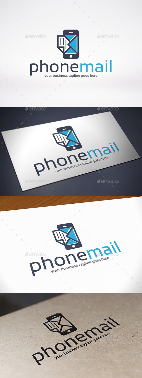 Phone Mail Logo Template