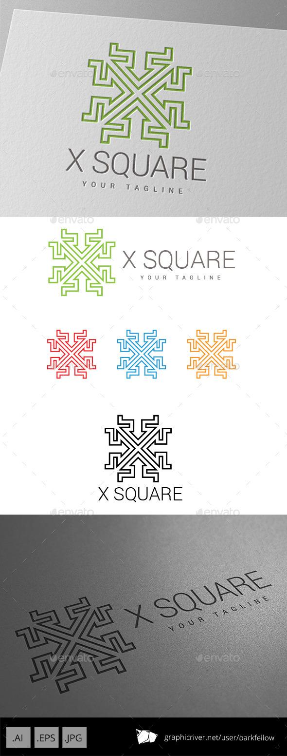 X Square Techno Logo