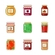 Set of Jars with Honey, Jam and Vegetables - GraphicRiver Item for Sale