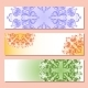 Set of Three Banner with Pattern - GraphicRiver Item for Sale