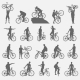 Bicyclists Silhouettes Set - GraphicRiver Item for Sale