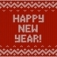 Card of Happy New Year 2015 with Knitted Texture - GraphicRiver Item for Sale