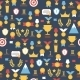 Seamless Pattern of Award Icons - GraphicRiver Item for Sale