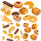 Set of Pastry Goods and Pattern - GraphicRiver Item for Sale