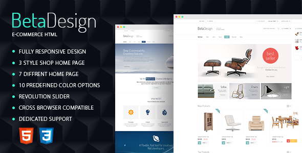 Beta Design | E-Commerce HTML Template