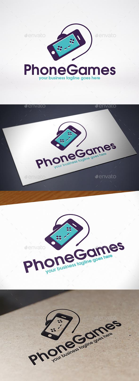 Phone Game Logo Template