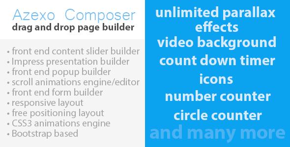 Azexo Composer Drupal page / block builder
