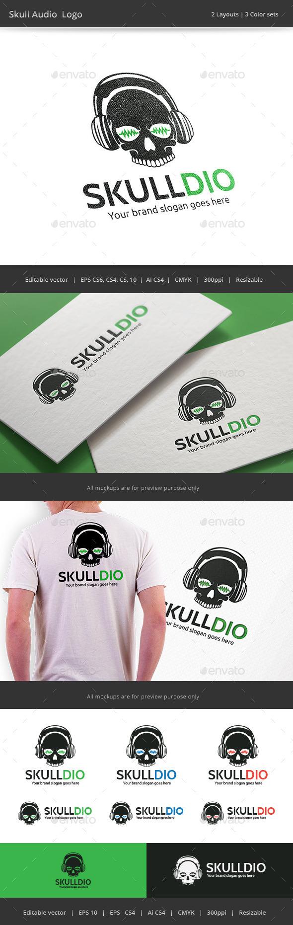 Skull Audio Logo