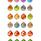 Different Christmas Glass Balls - GraphicRiver Item for Sale